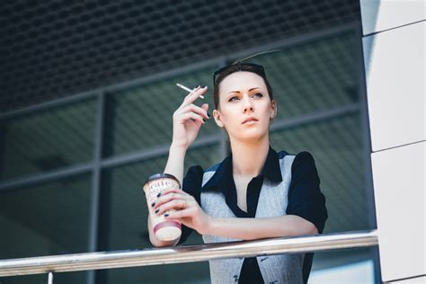 smoking woman smoke break businesswoman smokes smoker cigarette going breaks why never office shutterstock hire nails should ever smokers colleagues