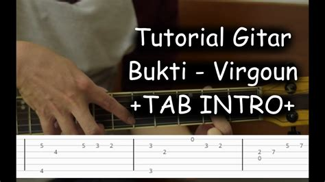 Belajar Gitar (bukti -virgoun) + Tab Intro