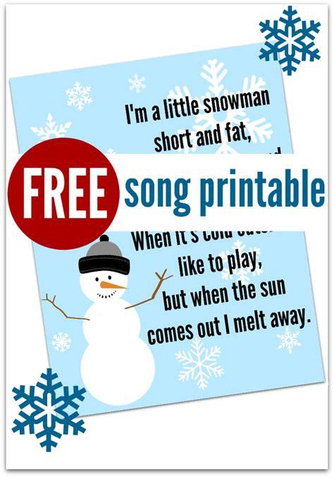snowman song free printable preschool winter songs 860 | 3515f2d23f35010c14f4d963ffa353c0