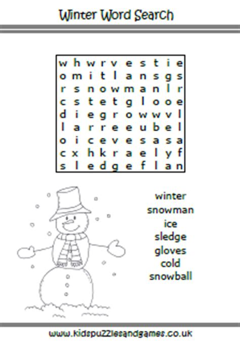 winter kids puzzles  games
