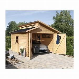 Toit En Bois : garage en bois massif 14 62m toit gradin madriers 28mm ~ Melissatoandfro.com Idées de Décoration