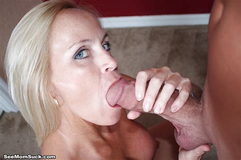 Cock Loving Blonde Milf Swallows A Monster White Cock Like