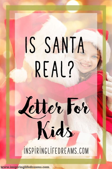 santa real  beautiful letter explaining santa claus