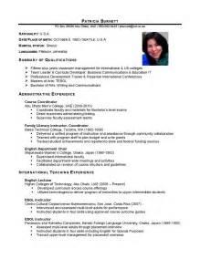 simple indian resume format doc for experienced international educator curriculum vitae