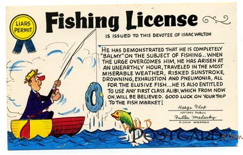 license fishing postcard pa stamp brenda picked aunt grandma trips pennsylvania western many