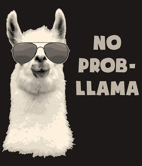 no prob llama greeting cards redbubble