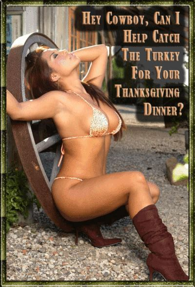 hey cowboy    catch  turkey   thanksgi