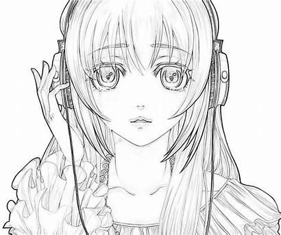 Coloring Anime Sad Drawing Drawings Miku Manga