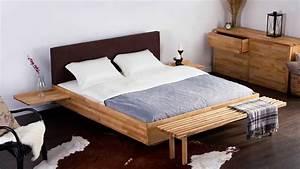 Lit En Palette Avec Rangement : beliani lit en bois double lit deux places avec sommier marron arras fr youtube ~ Melissatoandfro.com Idées de Décoration