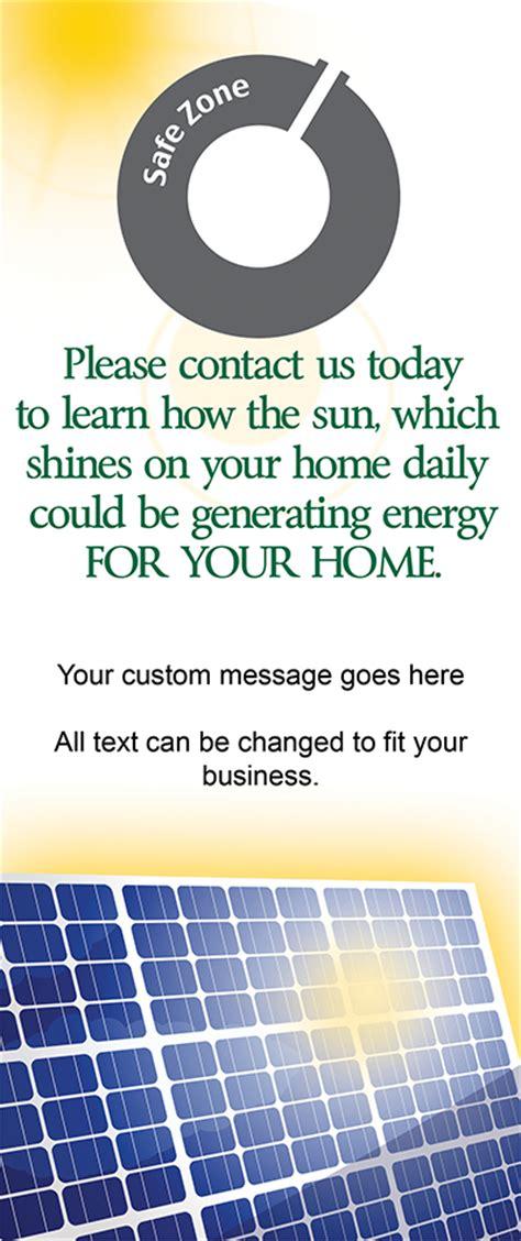 solar power marketing door hanger templates door