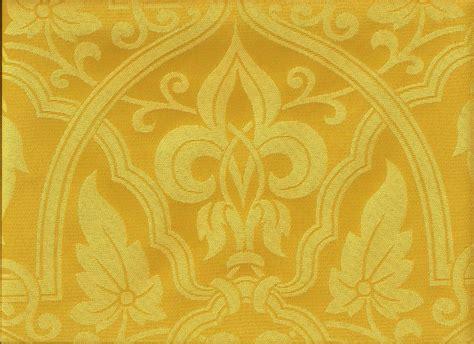gold world damask medallion upholstery drapery fabric