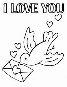 """I Love You "" Coloring Pages >> Disney Coloring Pages"