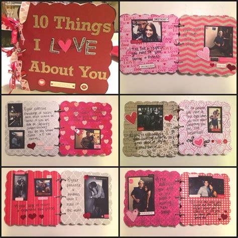 boyfriend gift idea chipboard scrapbook boyfriends