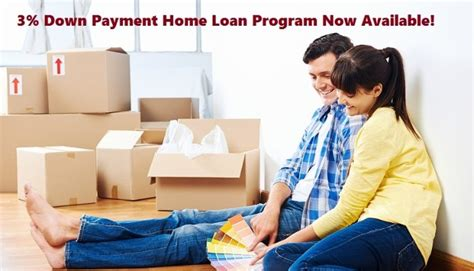 3% Down Payment Home Loan Program