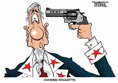 Roulette Russian Shoot Cartoon He Cartoons Debt