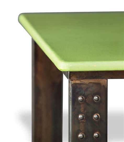 pied de table de cuisine table en de lave émaillée pied atelier 53 coloris