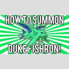 Terraria 124 How To Summon Duke Fishron! (new Boss!) [demize] Youtube
