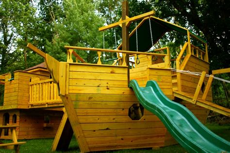 Pirate Ship Backyard Playset by Glick S Woodworking Pirate Ship Wooden Play Sets And