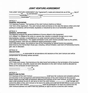 Sample Business Partnership Contract Free 11 Sample Joint Venture Agreement Templates In Pdf