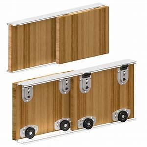 systeme porte coulissante ares2 pour 2 portes de placard With systeme porte coulissante placard