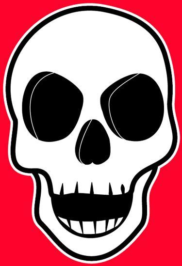 draw  creepie cartoon skull  halloween