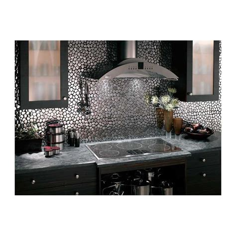 mosaique credence cuisine mosaique inox 1 plaque carrelage faience credence galet