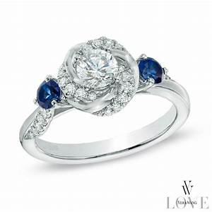 Vera wang love collection 5 8 ct tw diamond and blue for Vera wang wedding rings with sapphire