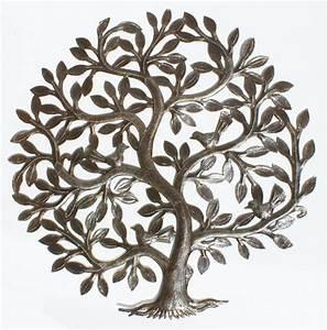 Arbre De Vie Decoration Murale : metal tree of life decor haitian metal wall art wall decoration oil drum art 24 ebay ~ Teatrodelosmanantiales.com Idées de Décoration