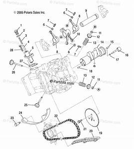 Polaris Side By Side 2011 Oem Parts Diagram For Engine  Camshaft  U0026 Valves