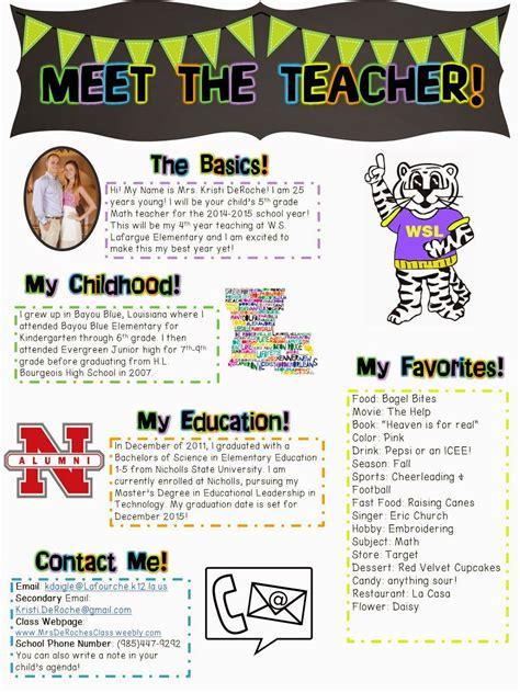 meet  teacher open house newsletter school ideas