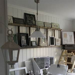 Unique ways to decorate with vintage ladders driven