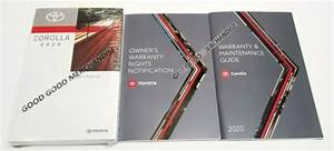 2020 Toyota Corolla Owners Manual Xse Se Le L Sport Sedan V4 1 8 2 0 Fwd Set Oem