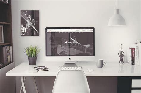bureau imac bureau blanc laque imac