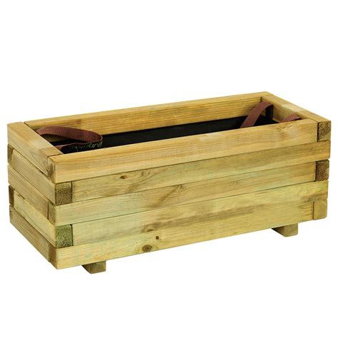 jardinera de madera baroque rectangular ref 16137646