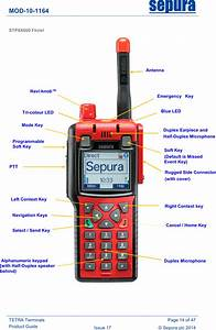 Sepura Srg3900xn Tetra Mobile  Gateway Terminal User Manual