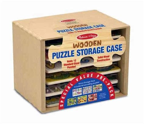 and doug puzzle rack gift set puzzle storage with 6 puzzles by