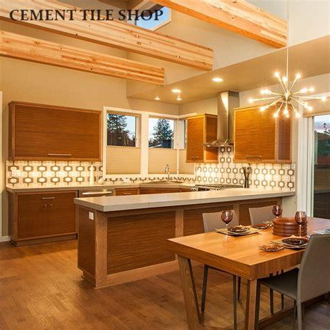 mid century modern kitchen backsplash kitchen backsplash cement tile shop 9162