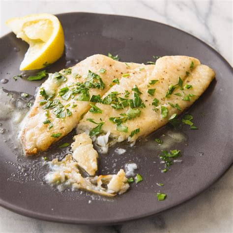 fish meuniere  browned butter  lemon americas test kitchen