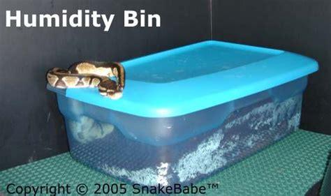 humidity bin  snake cage