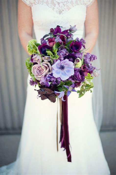 purple handmade california wedding flowers purple