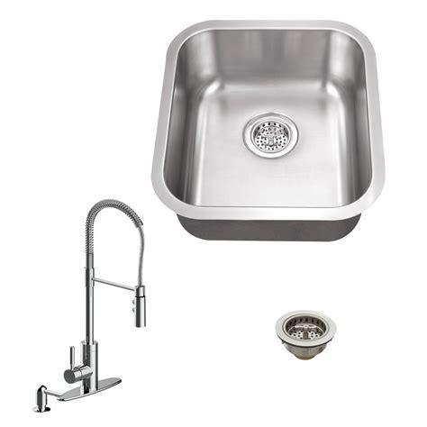 stainless steel undermount kitchen sink single bowl all in one undermount stainless steel 16 125 in single 9786