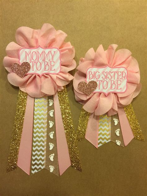 Baby Shower Pins For Corsages Baby Shower Pink And Gold Baby Shower Pin To Be Pin