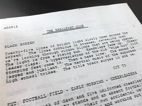 Original 'Breakfast Club' screenplay found in District 207