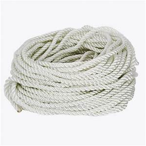 Everbilt 3/8 in x 100 ft White Twisted Nylon and