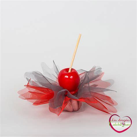 ballotin drages tulle avec dco pomme d amour