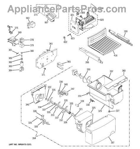 parts  ge gsfigzbww ice maker dispenser parts