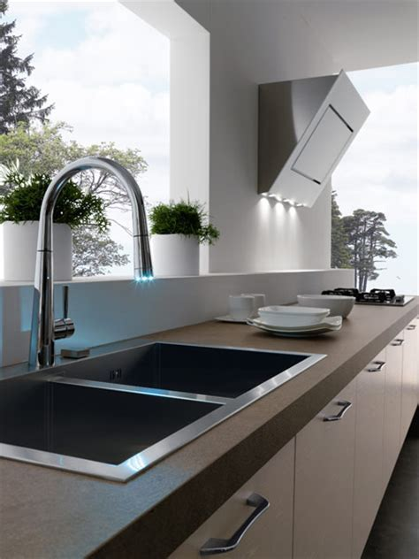 Contemporary Kitchens Without Upper Cabinets   Easy