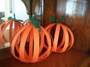 Construction Paper Pumpkin Craft