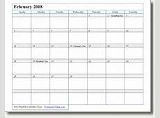 February 2019 Printable Calendar Print as many as you want