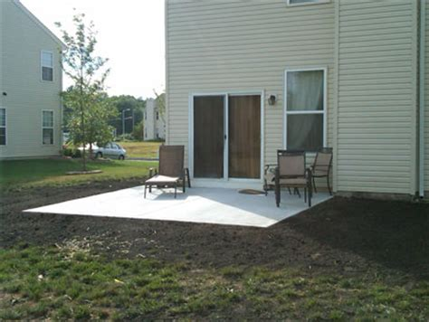 hardscaping options concrete pavers or sted concrete
